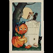 Pumpkin Girl In Scary Graveyard- Whitney