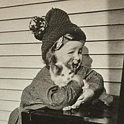 RPPC Little Girl And Her Kitten