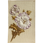 Novelty Lavender Flower Postcard-1910
