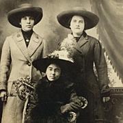 RPPC Three Ladies In Winter