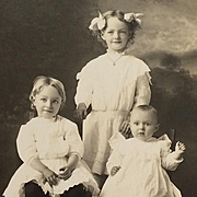 RPPC- Three Cute 20's Kids