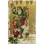 Old World Santa With Toys- Undivided Back