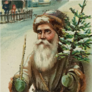 Old World Santa With Christmas Tree