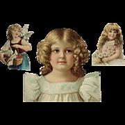 Trio Of Lovely Girls-Victorian Era Scrap