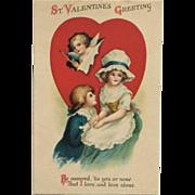 Little Lovestruck Colonial Couple- Clapsaddle
