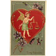 Embossed Hearts In Balance Valentine