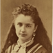 CDV- Beauty With Long Hair And Jewelry
