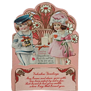 Die Cut Stand Up Valentine Sailor Boy And Girl