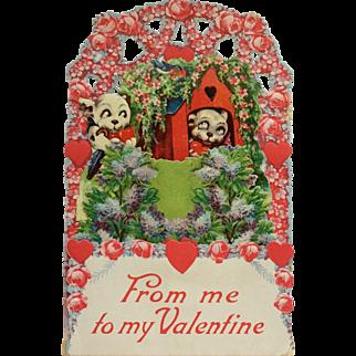 Valentine's Puppy Love- Die Cut Card