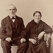 Cabinet Card- Grandpa And Grandma With Happy Memories