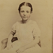 CDV- CWE Beautiful Young Girl With Tinted Cheeks