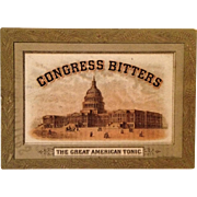 Trade Card- Congress Bitters-The Great American Tonic