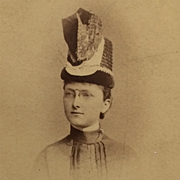 CDV- Young Lady In Strange Hat, Very Strange Indeed