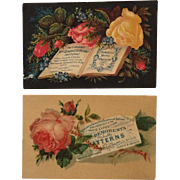 2 Trade Cards- Demorest's Patterns