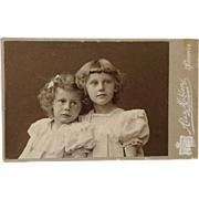 CDV- Stunning Young Sisters With Heads Together