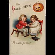 Signed Clapsaddle Halloween Children And Dark Secret