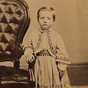 Carte De Visite- CWE Boy In Decorated Bolero Jacket And Skirt