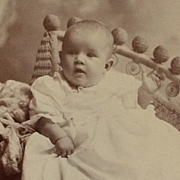 Cabinet Card-Sweet Baby In Fancy Rattan Chair