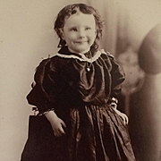 Cabinet Card- Happy Toddler With Pretty Locket