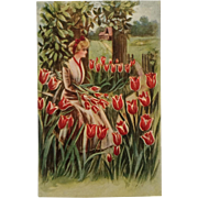 Embossed -Tulip Time