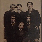 Tintype- Six Dudes In Fine 19th Century Style