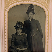Tintype-  Ladies From The Great Plains In Hats