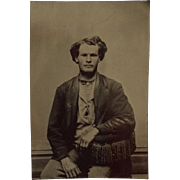 Tintype- Handsome Working Man