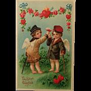 Cupids Toasting Valentine's Day Postcard