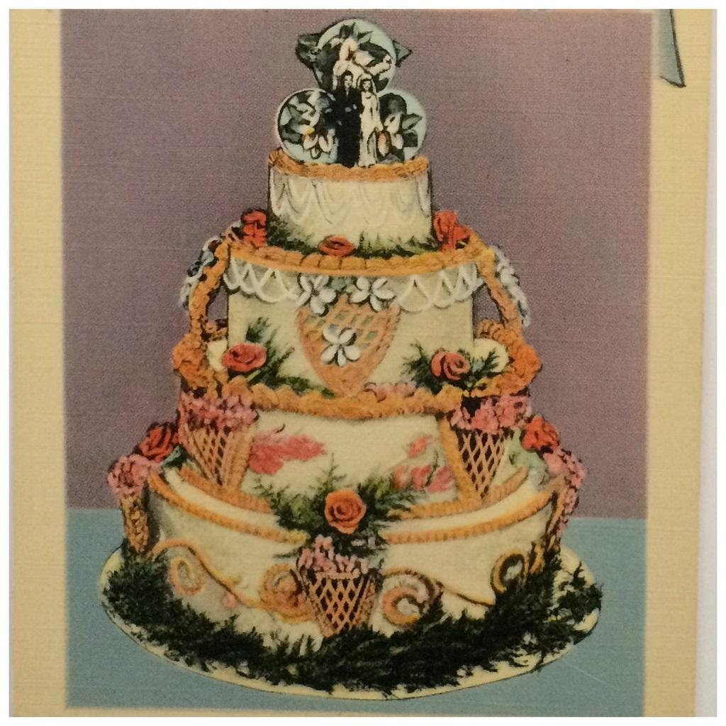 Wedding Cake 101 An Introduction To Wedding Cakes: Vintage Postcard Advertising Wedding Cakes From Atticink