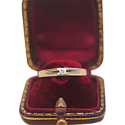 Classic fourteen karat yellow gold engagement ring/ wedding ring, dated ca. 1950