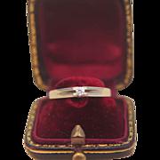 Classic fourteen karat yellow gold engagement ring/ wedding ring, dated ca. 1950