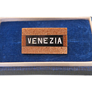 "Grand Tour Era Micro Mosaic ""Venezia"" souvenir brooch,19th century"