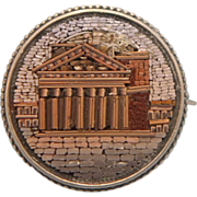 Very important  Collectible Roman Micro Mosaic silver brooch , dated January 9th ,1884
