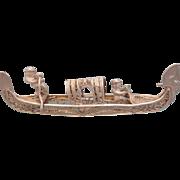 Antique Filigree silver brooch, 19th century