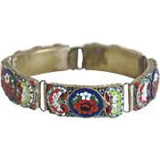 Micro Mosaic bracelet depicting flowers, late 19th century