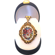 Antique Micro Mosaic locket,gilt silver, hallmarked and dated at the turn of the 19th century - Red Tag Sale Item