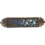 Antique Micro Mosaic brooch, 19th century