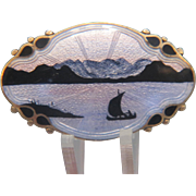 Art Deco Norway enamel silver brooch, ca. 1930