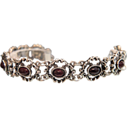 Antique Garnet and silver bracelet,19th century