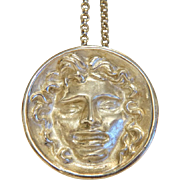 Vintage silver pendant designed by Prof. Ernst Fuchs (1930-2015), ca. 1974