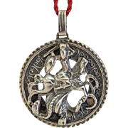 Victorian St. George silver pendant , 19th century