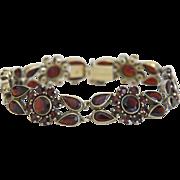 Vintage Garnet bracelet, silver 925,ca.1930