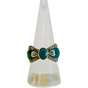 Art Deco Chalcedony and Marcasite ring, silver 925,ca.1930