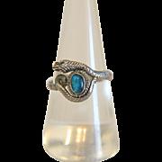 Art Nouveau Opal snake ring, silver 925, ca.1900