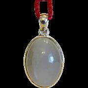 Vintage grey Moonstone pendant, silver 925, ca. 1960