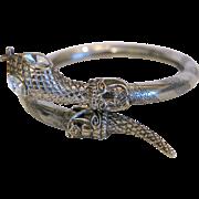 Vintage snake bangle, silver plated, ca. 1960