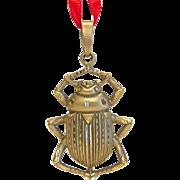 Vintage  Scarab pendant, 9k yellow gold, ca. 1930