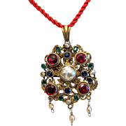 Antique Gilt silver pendant, 19th century
