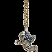 Vintage  angel pendant ,silver 925, ca. 1970