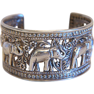 Vintage cuff bracelet, silver 925, ca. 1950